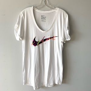 Nike | Women's Athletic Cut White Graphic Tee